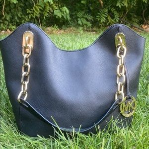 Michael Kors Black Lilly Saffiano Leather Bag